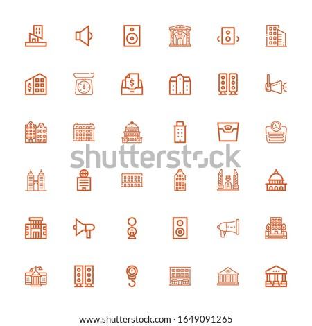 editable 36 government icons