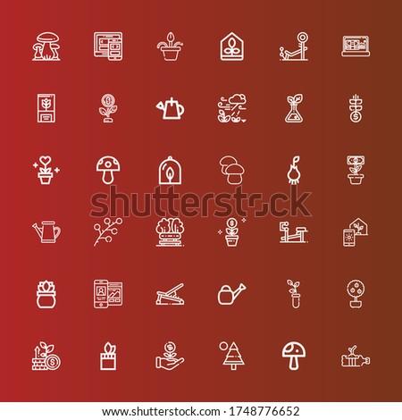 editable 36 grow icons for web