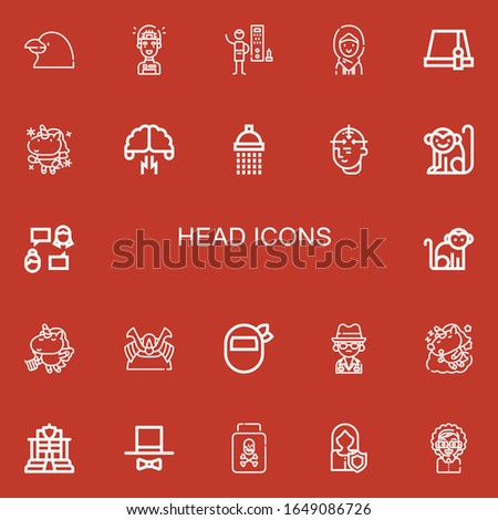 editable 22 head icons for web