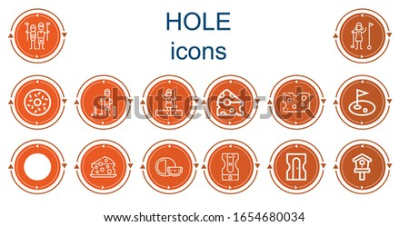 editable 14 hole icons for web