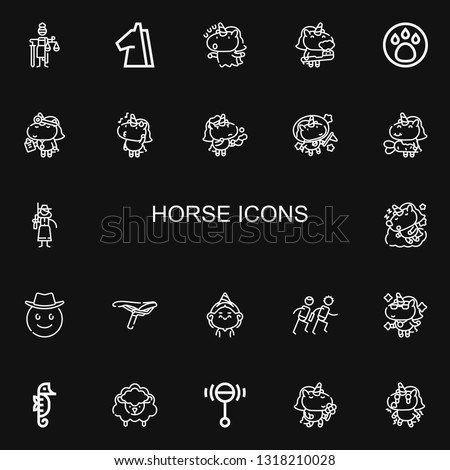editable 22 horse icons for web