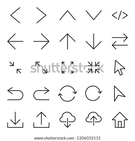 editable icon set, with modern style, outline design, user interface and user experience icon set