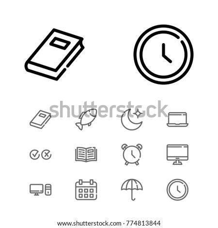 editable icons set with