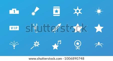 editable 15  icons  vip  star