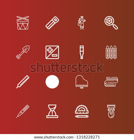 editable 16 instrument icons