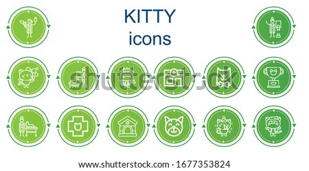 editable 14 kitty icons for web