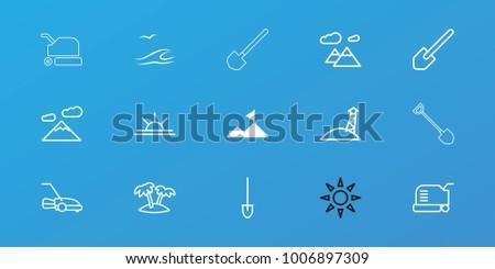 editable 15 landscape icons