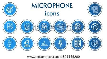 editable 14 microphone icons