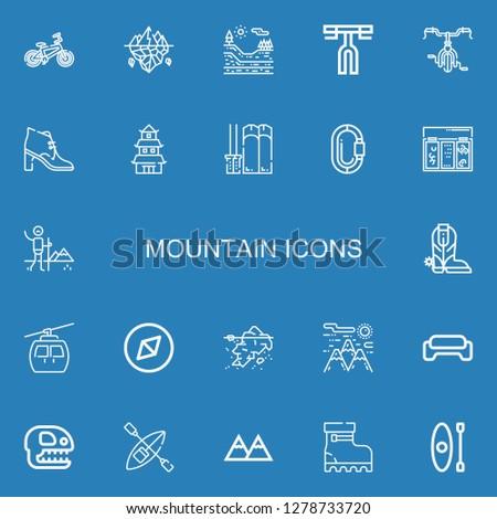 editable 22 mountain icons for