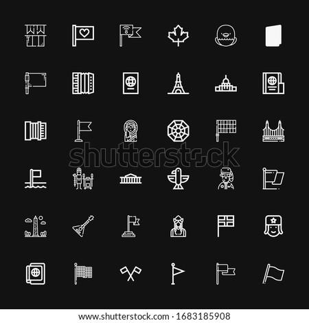 editable 36 national icons for