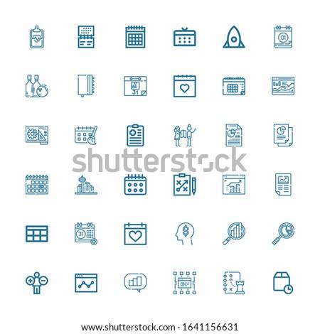 editable 36 plan icons for web