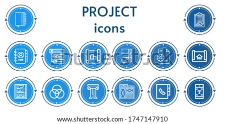 editable 14 project icons for