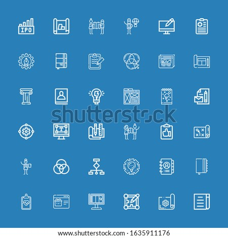 editable 36 project icons for