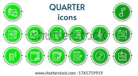 editable 14 quarter icons for