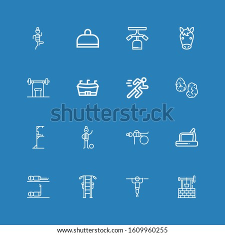 editable 16 running icons for