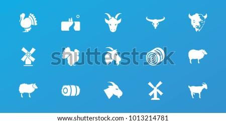 editable 15 rural icons  hay