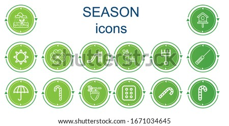 editable 14 season icons for