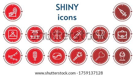 editable 14 shiny icons for web