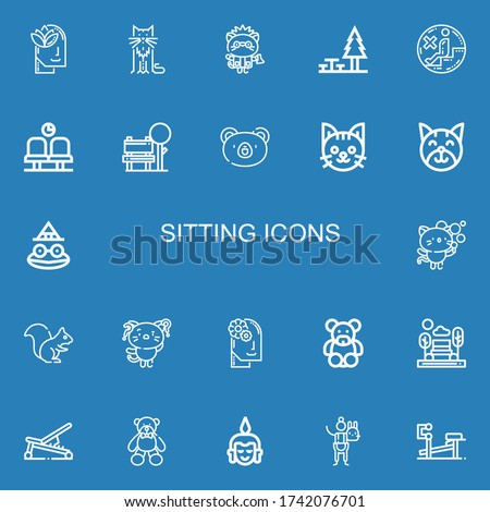 editable 22 sitting icons for