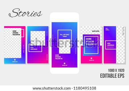 Editable Social media Stories for Phone