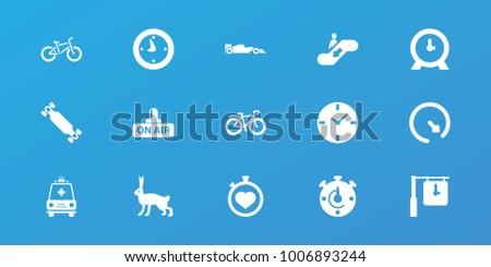 editable 15 speed icons  rabbit