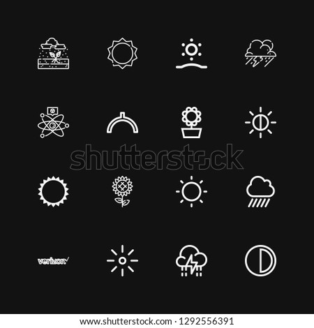 editable 16 sunny icons for web