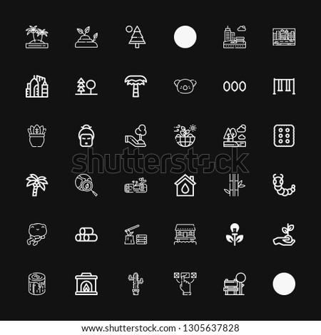 editable 36 tree icons for web