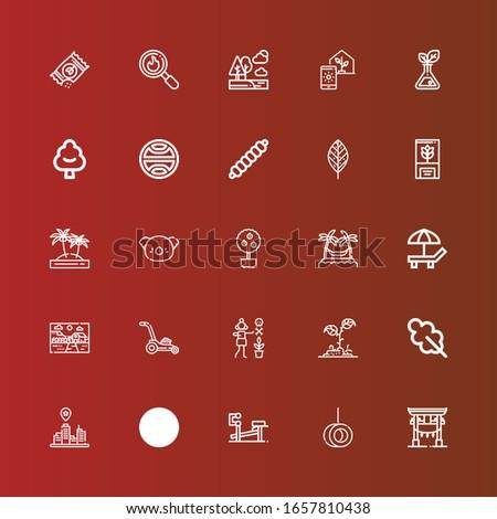 editable 25 tree icons for web