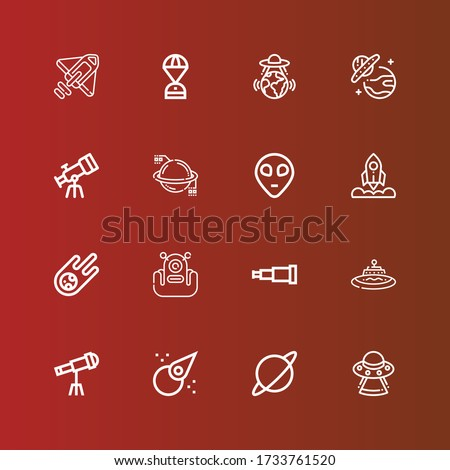 editable 16 universe icons for