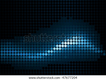 Editable vector abstract background of blue dots