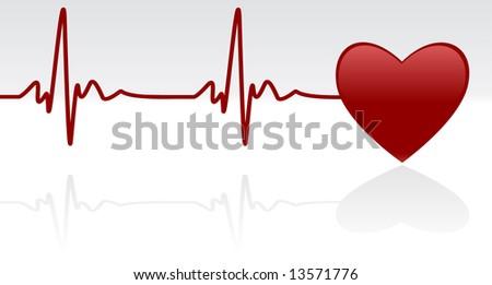 stock-vector-editable-vector-background-heart-and-heartbeat-symbol-on    Heartbeat Line Vector