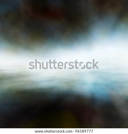 Editable vector background of mist over water made using a gradient mesh