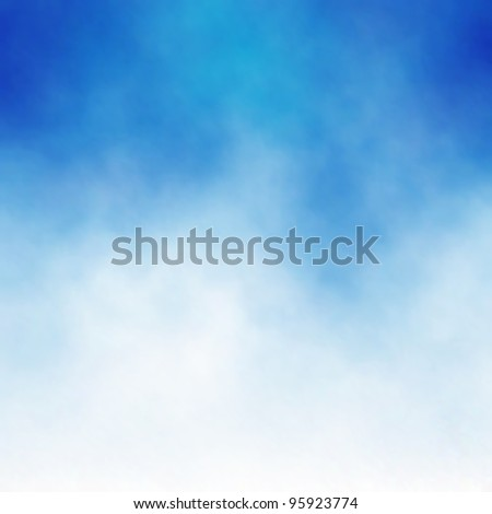 Editable vector background of white cloud detail in a blue sky made using a gradient mesh - stock vector