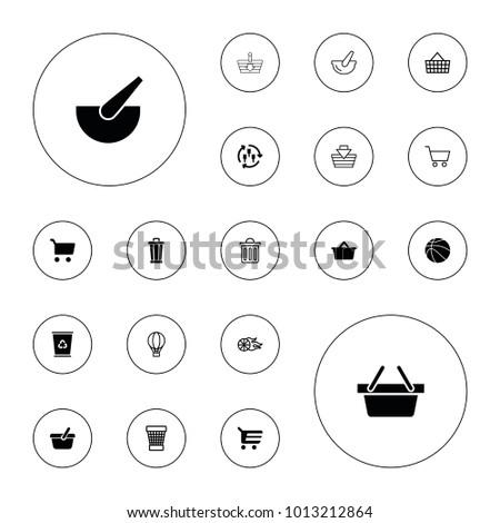 editable vector basket icons
