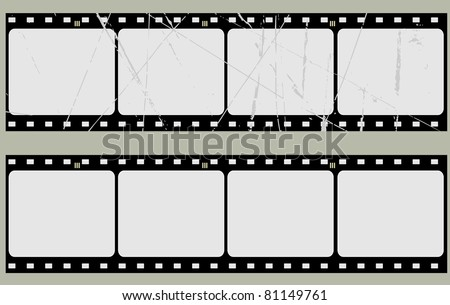 Editable vector film frame background with space for your text or image.  More images like this in my portfolio