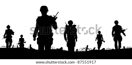 editable vector foreground of
