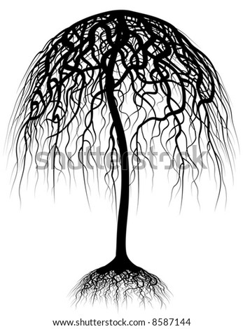 clip art tree with roots. clip art tree with roots. of a