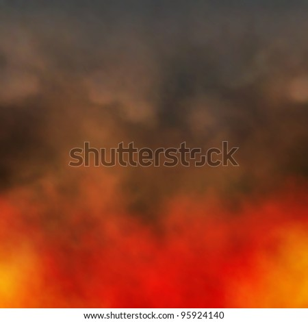 Editable vector illustration of dense smoke from a fire made using a gradient mesh