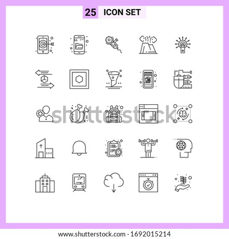 editable vector line pack of 25
