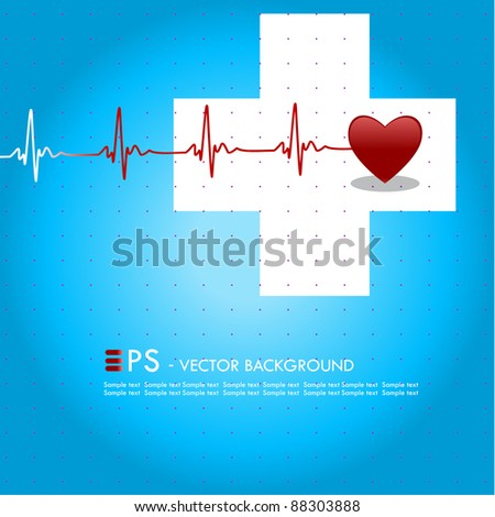 Editable vector medical background with space for your text
