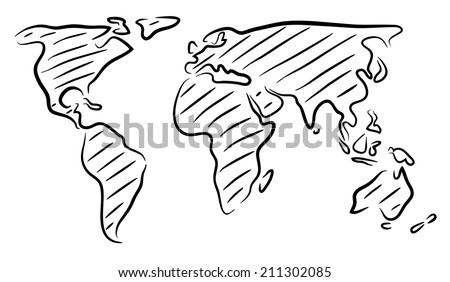 Sketch world map vectors download free vector art stock graphics editable vector rough outline sketch of a world map gumiabroncs Gallery