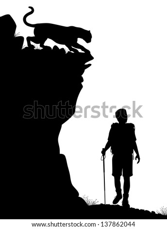 editable vector silhouette of a