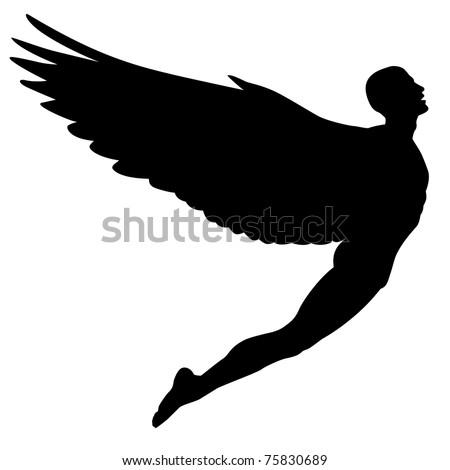 editable vector silhouette of a