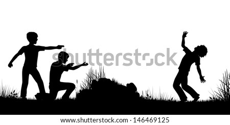 editable vector silhouette of