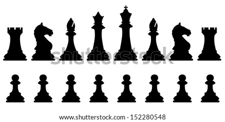 editable vector silhouettes of