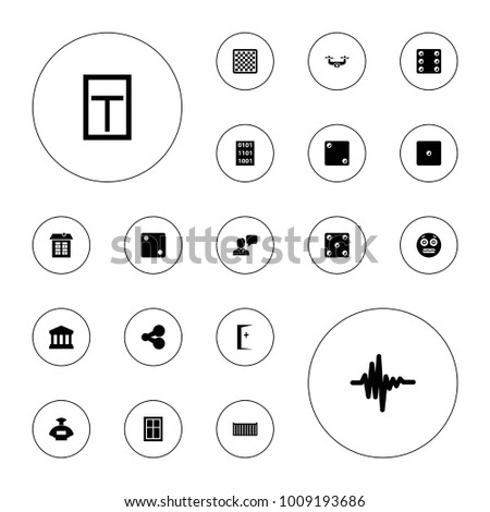 editable vector square icons