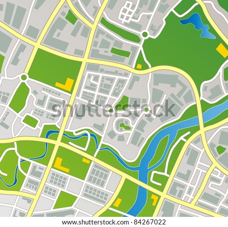 editable vector street map of a
