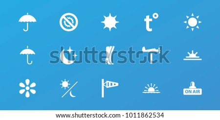 editable 15 weather icons  sun