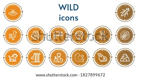 editable 14 wild icons for web