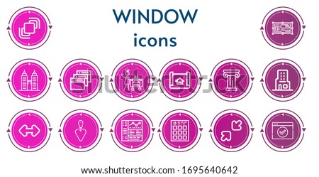 editable 14 window icons for